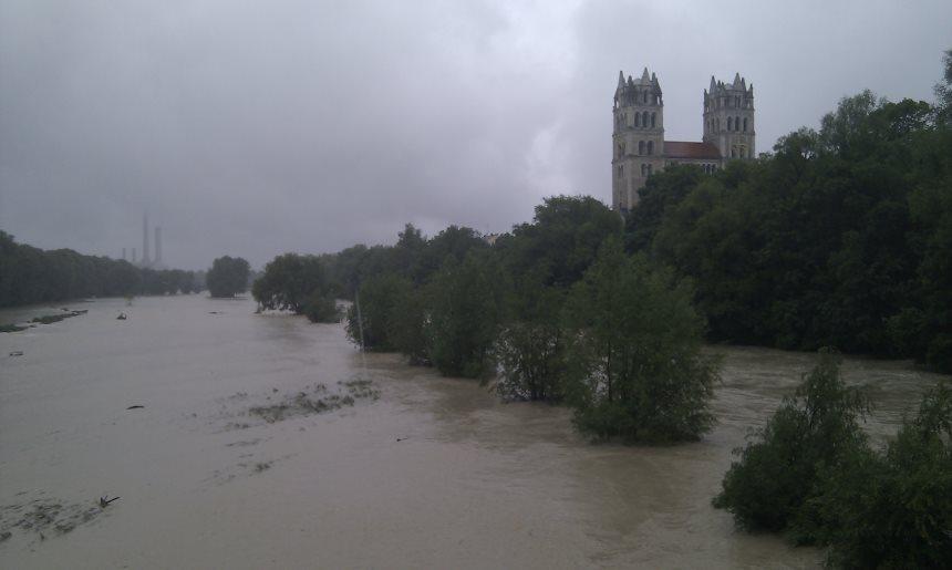 Überschwemmung in München 2010
