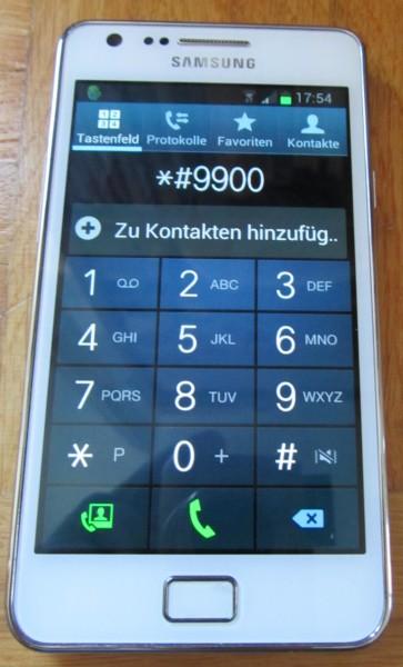 Android: *#9900# eingeben