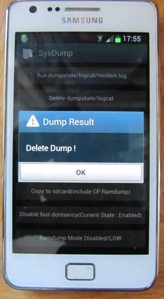 Android: Speicher freigeben durch Löschen des Logfiles / Dumps