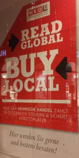 Linz Impressionen: buy local read global