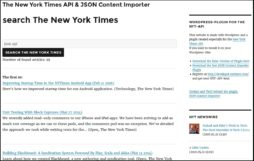 Screenshot: WordPress, JSON und New York Times