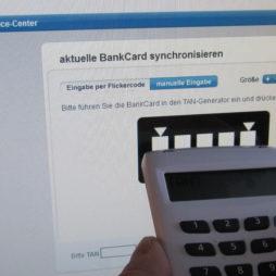 Sparda Bank chipTAN-Verfahren:: Lesegerät und Onlinebanking: chipTAN-Verfahren aktivieren: Flickercode einlesen